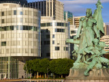 Statue in La Defense, the Main Business District in Paris, France Photographic Print by Carlos Sanchez Pereyra