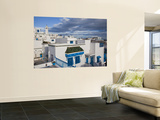 Tunisia, Sidi Bou Said, Elevated Town View Wall Mural by Walter Bibikow