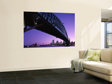 Sydney Harbour Bridge at Dusk , Sydney, New South Wales, Australia Wall Mural by Steve Vidler