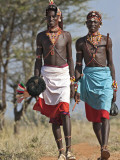 Two Samburu Warrior of Northern Kenya in All their Finery; Photographic Print by Nigel Pavitt