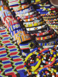 Colourful Traditional African Souvenirs on Beachfront, Durban, Kwazulu-Natal, South Africa Photographic Print by Ian Trower