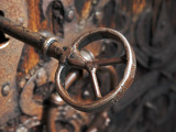 Sweden, Island of Gotland; a Antique Key and Lock Still in Use on the Medieval Church Door Photographic Print by Mark Hannaford
