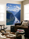 A Cruise Ship Navigates Through Geiranger Fjord, Geiranger, More Og Romsdal, Norway Wall Mural by Doug Pearson