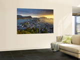 Elevated View over Alesund at Sunset, Sunnmore, More Og Romsdal, Norway Wall Mural by Doug Pearson