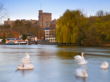Uk, England, Berkshire, Windsor, Windsor Castle and River Thames Photographic Print by Alan Copson