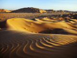 Oman, Empty Quarter; the Martian-Like Landscape of the Empty Quarter Dunes; Fotodruck von Niels Van Gijn
