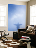 Brazil, Rio De Janeiro, Cosme Velho, Christ the Redeemer Statue at Atop Cocovado Wall Mural by Jane Sweeney