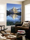 Switzerland, Valais, Zermatt, Matterhorn (Cervin) Peak and Riffel Lake Wall Mural by Michele Falzone