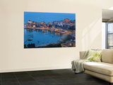 View over Harbour at Dusk, Castellammare Del Golfo, Sicily, Italy Wall Mural by Peter Adams
