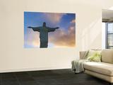 Brazil, Rio De Janeiro, Cosme Velho, Chirst the Redeemer Statue Atop Cocovado Wall Mural by Jane Sweeney