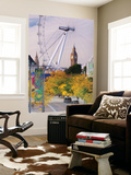 Uk, England, London, Houses of Parliament, Big Ben Wall Mural by Alan Copson