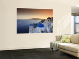 Greece, Cyclades, Santorini, Oia Town and Santorini Caldera Wall Mural by Michele Falzone