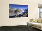 Switzerland, Valais, Jungfrau Region, Aletsch Glacier from Mt; Eggishorn (Unesco Site) Wall Mural by Michele Falzone