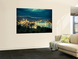 Hungary, Budapest, Castle District, Royal Palace and Chain Bridge over River Danube Wall Mural by Michele Falzone