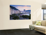 Brazil, Rio De Janeiro, Copacabana, Traffic Along Avenue Atlantica at Dawn Wall Mural by Jane Sweeney