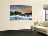 Switzerland, Schaffhausen, Rhine Falls / Rheinfall and Laufen Castle Wall Mural by Michele Falzone