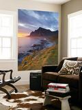 Mightnight Sun over Dramatic Coastal Landscape, Vikten, Flakstadsoya, Lofoten, Nordland, Norway Wall Mural by Doug Pearson