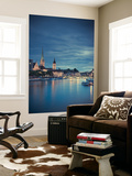 Switzerland, Zurich, Old Town and Limmat River Wall Mural by Michele Falzone