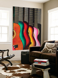 Usa, California, Los Angeles, El Pueblo De Los Angeles, Guitars Wall Mural by Alan Copson