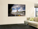 Eiffel Tower and River Seine, Paris, France Wall Mural by Jon Arnold