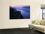 Preikestolen (Pulpit Rock) at Sunset, Lysefjorden, Norway Wall Mural by Doug Pearson