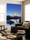 Switzerland, Valais, Zermatt, Lake Stelli and Matterhorn (Cervin) Peak Vægplakat af Michele Falzone