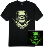 Universal Monsters - Glow in the Dark Frank Bolts T-shirts