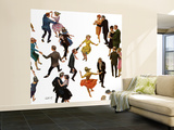 """Different Dancing Styles,"" November 4, 1961 Wall Mural – Large by Thornton Utz"