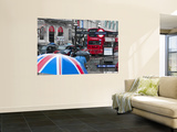 Uk, England, London, Piccadilly Circus, Underground Entrance Wall Mural by Alan Copson