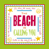 Beach Calling Print by Sharyn Sowell