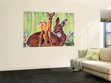 """Doe and Fawn in Forest,"" June 1, 1940 Wall Mural by Paul Bransom"