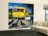 """""""School Bus,"""" September 2, 1944 Wall Mural – Large by Stevan Dohanos"""