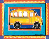 School Bus Art by Alison Jerry