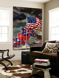 """Allied Forces Flags,"" July 3, 1943 Wall Mural by John Atherton"