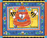 Honeybees Prints by Alison Jerry