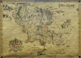 Lord of the Rings-Map Poster