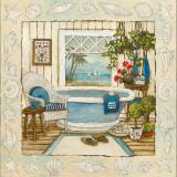 Sea Breeze Bath I Prints by Charlene Olson
