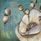 Blue Poppies I Prints by Patricia Quintero-Pinto