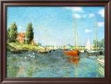 Red Boats at Argenteuil, c.1875 Poster by Claude Monet