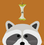 Peek-a-Boo Raccoon Affiche par Yuko Lau