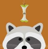 Peek-a-Boo Raccoon Print by Yuko Lau