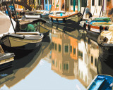 Burano Boats Poster by Shelley Lake