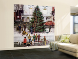 """Tree in Town Square,"" December 4, 1948 Wall Mural – Large by Stevan Dohanos"