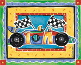 Race Car Posters by Alison Jerry