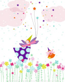 Flying Fairy Poster by Laure Girardin-Vissian