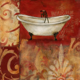 Scarlet Bath I Prints by Carol Robinson