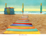 Promenade sur la plage Affiche par Robin Renee Hix