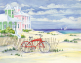 Beach Cruiser Cottage I Poster by Paul Brent