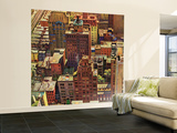 """Bird's-Eye View of New York City,"" August 17, 1946 Wall Mural – Large by John Falter"