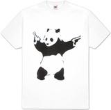 Pandémonium: pochoir noir & blanc, avec panda et revolvers T-Shirts par Unknown